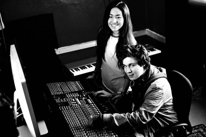 Elever i Studio1 ved Skjeberg FHS